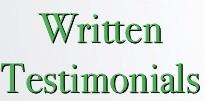 Patient Written Testimonials